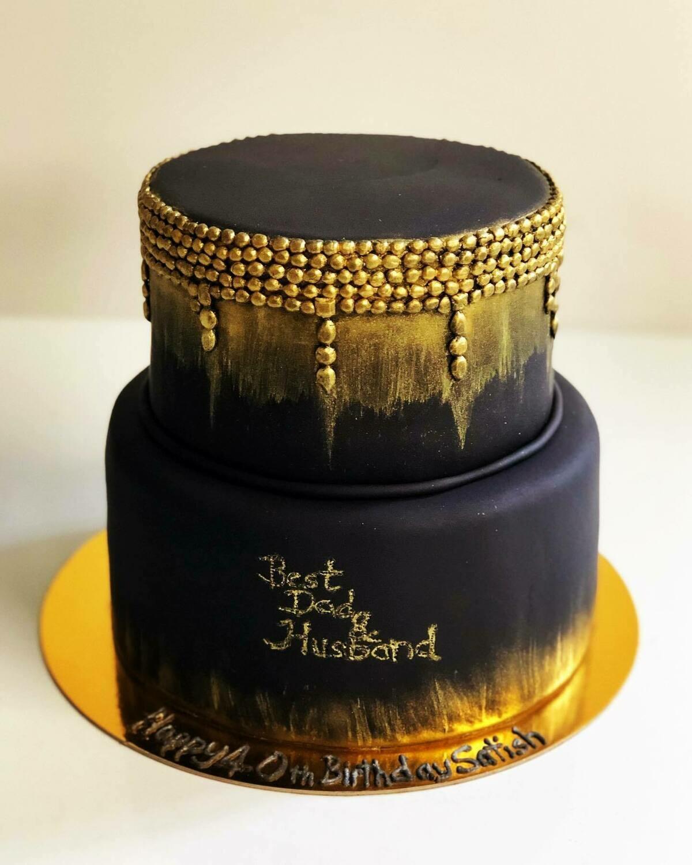 Black & Gold Theme Cake