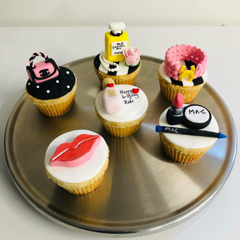 6 X Designer Cupcakes