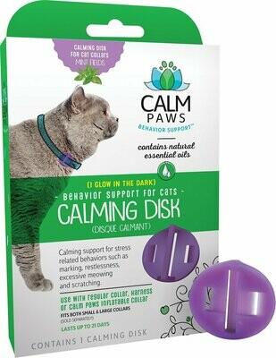 Calm Paws успокаивающий диск на ошейник, для кошек