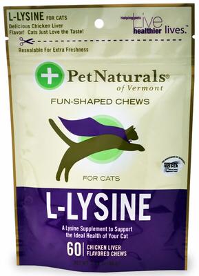 Pet Naturals l-lysine Лакомство с лизином, уп. 60 шт