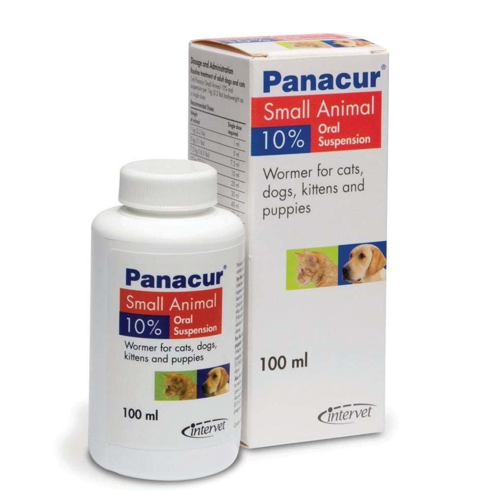 Panacur Панакур суспензия 10%, для кошек и собак, 100 мл