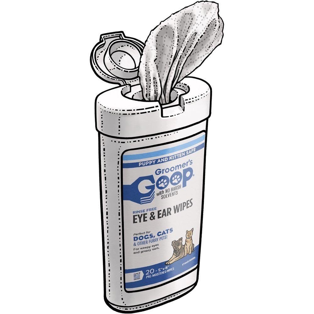 Groomer's Goop Glossy Coat Shampoo Wipes салфетки