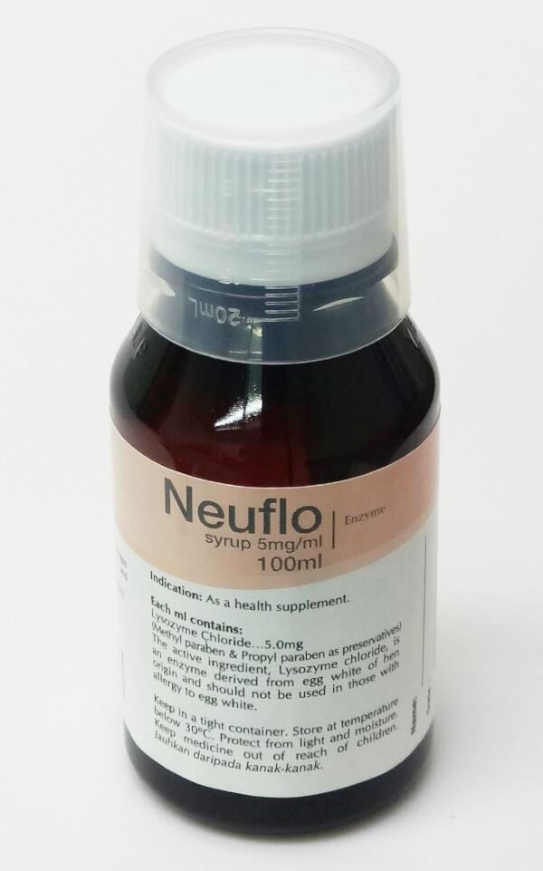 Neuflo Lysozyme 5mg/mL Syrup 100mL