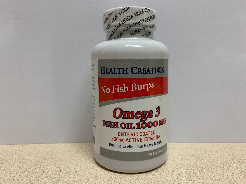 OMEGA 3 FISH OIL 1000MG (60 SOFTGELS)