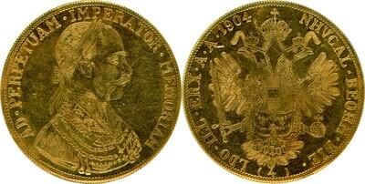 4 Dukat 1904 1904 Bulgaria-Austria Franz Joseph UNC