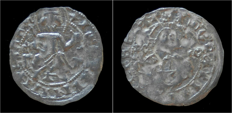 denar 1356-1397 Bulgaria Bulgaria Widin Kingdom Ivan Stracimir AR denar no date VF+