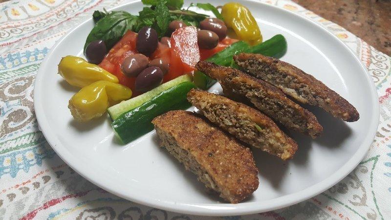 Secret Recipe # 4 Kubba Al-Mosul (Cracked Wheat (Burghul) stuffed with meat)