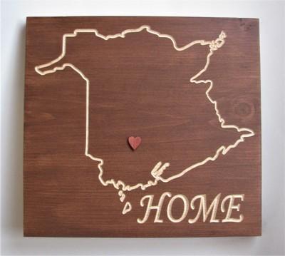 Rustic New Brunswick Home Sign