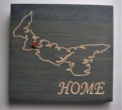 Rustic Prince Edward Island Home Sign