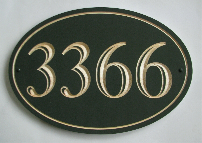 Large Custom Wood House Number Sign