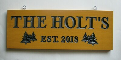 Custom Family Name Sign Cottage Sign House Sign