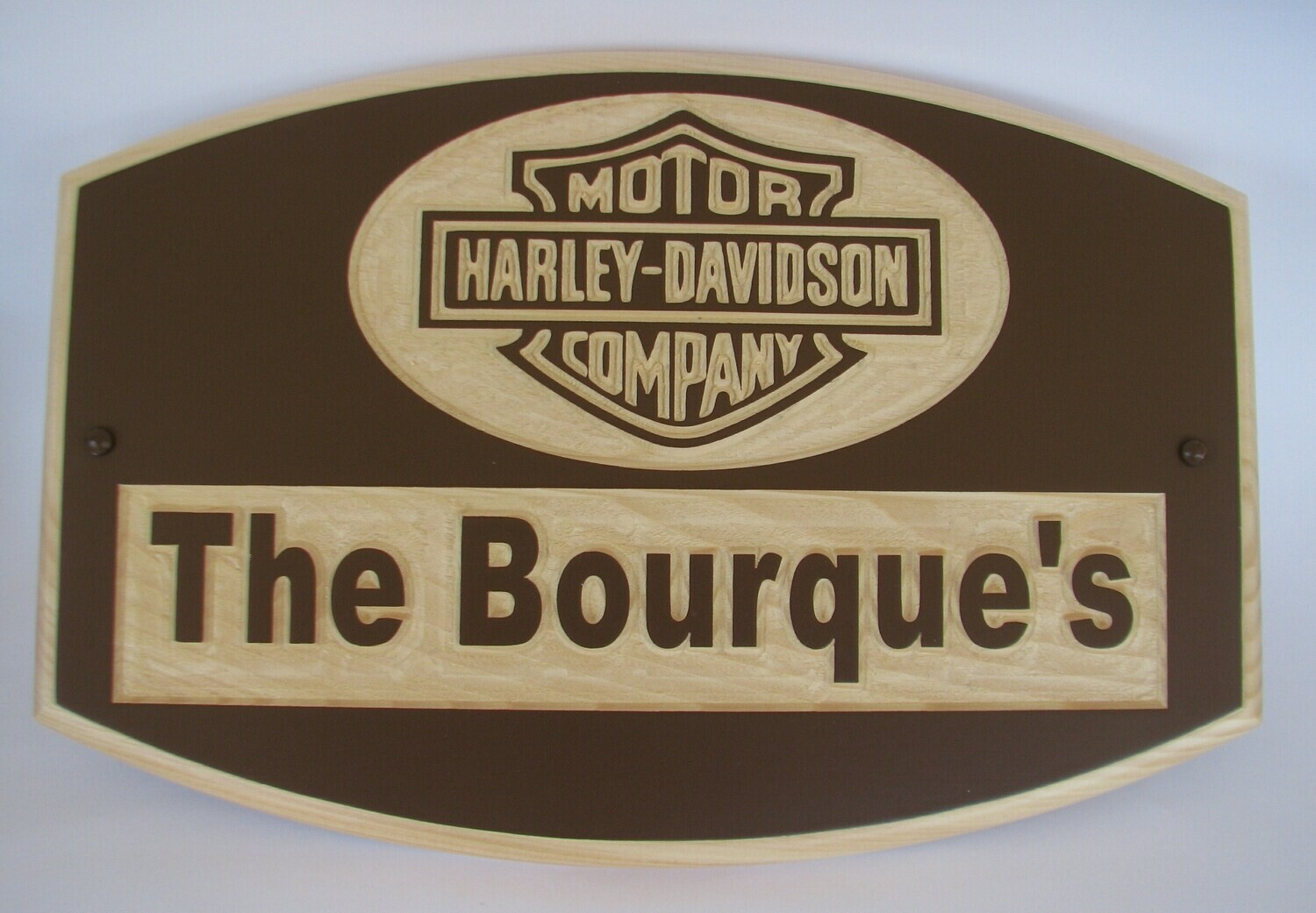 Custom Carved Painted Wood Sign Family Name Sign with Logo