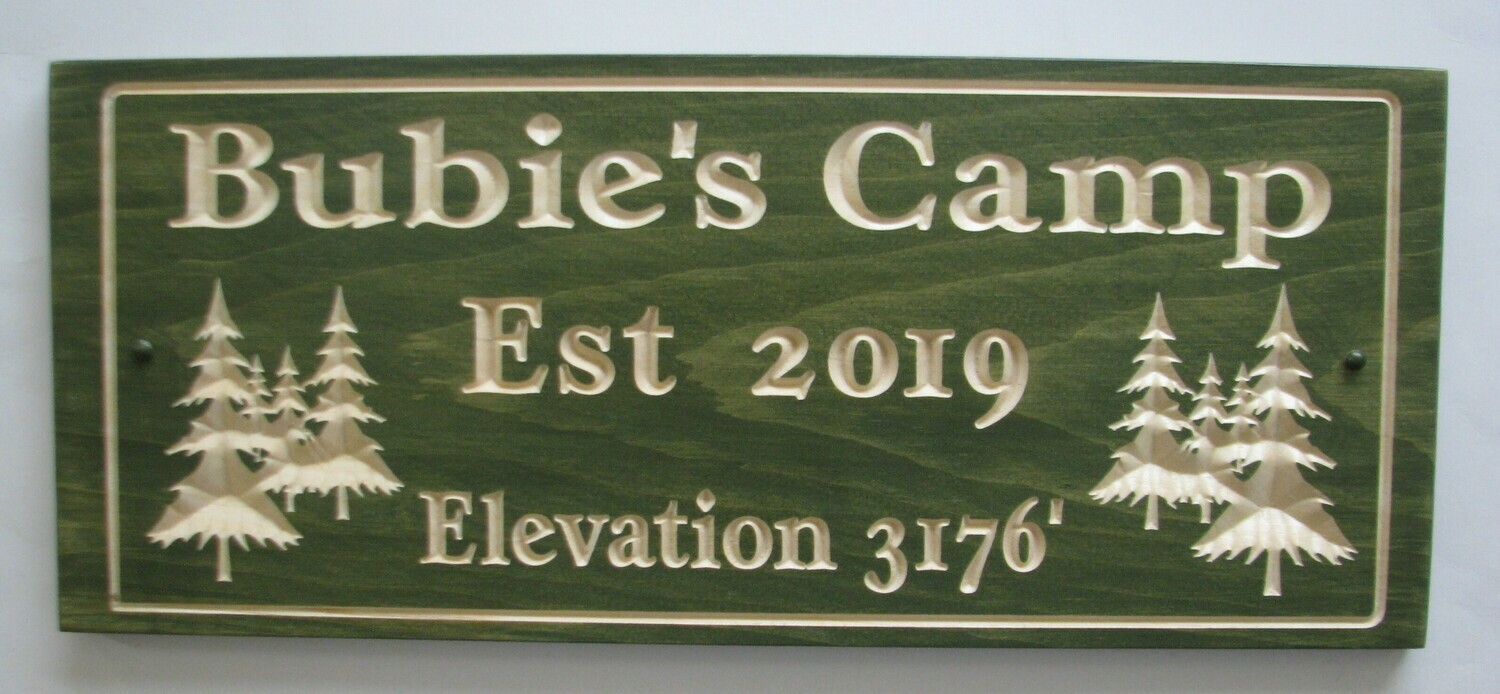 Custom Carved Stained Wood Cottage Sign Camp Sign Outdoor Sign