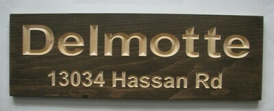 Custom Carved Stained Wood Cottage Sign Camp Sign Outdoor Family Name Address