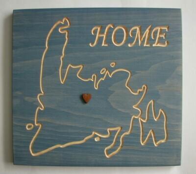 Rustic Newfoundland Home Sign
