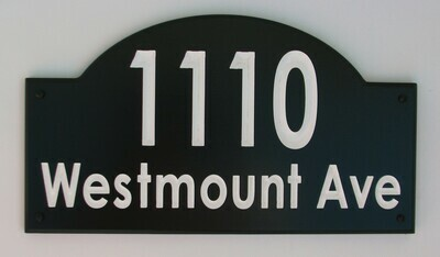 Custom House Number & Address Sign - Two Color Address Sign - House Number Address Plaque