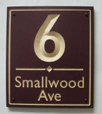 Custom Wood Address Sign - House Number Sign - Street Name Sign