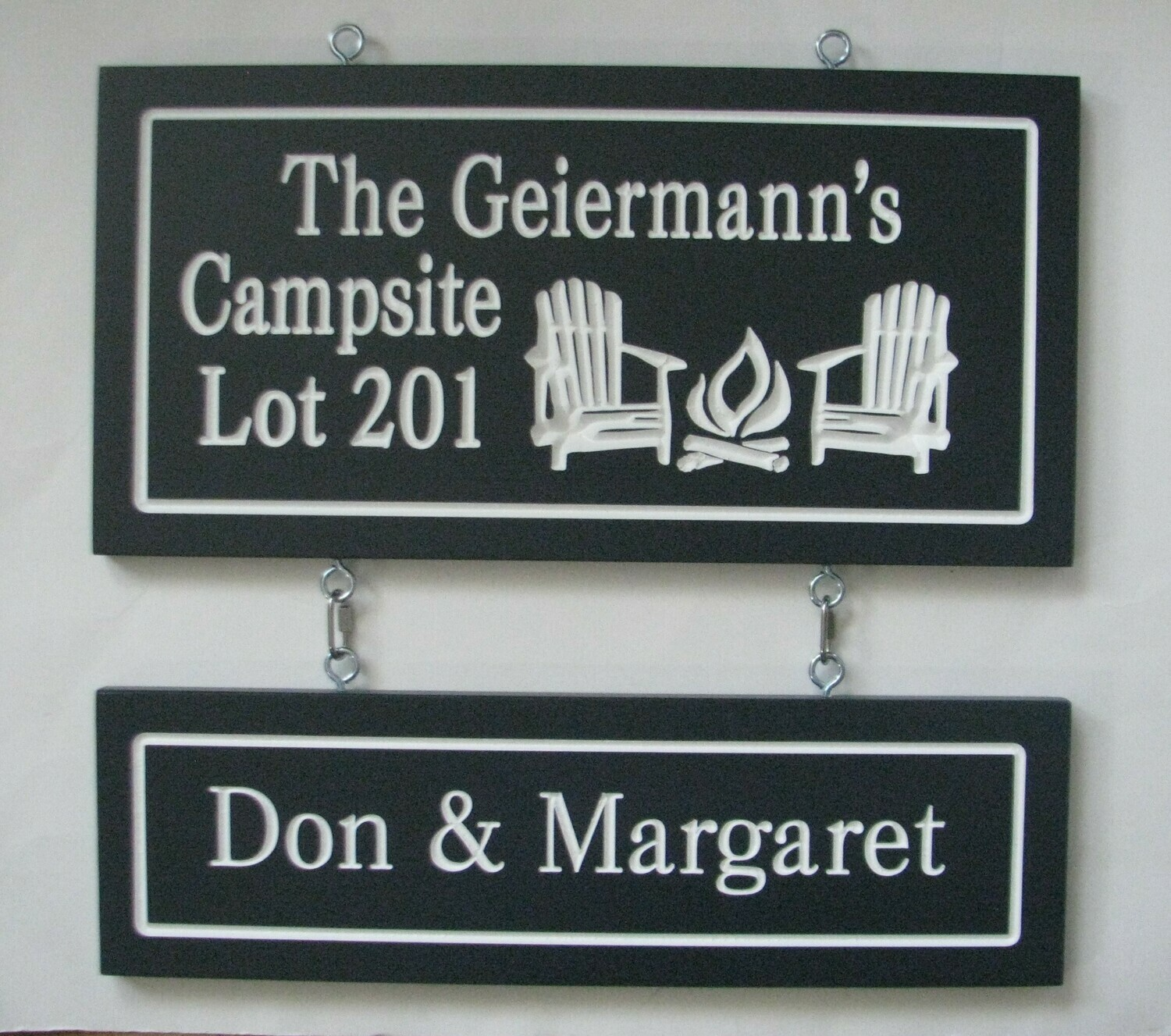 Carved Painted Custom Wood Camp Signs