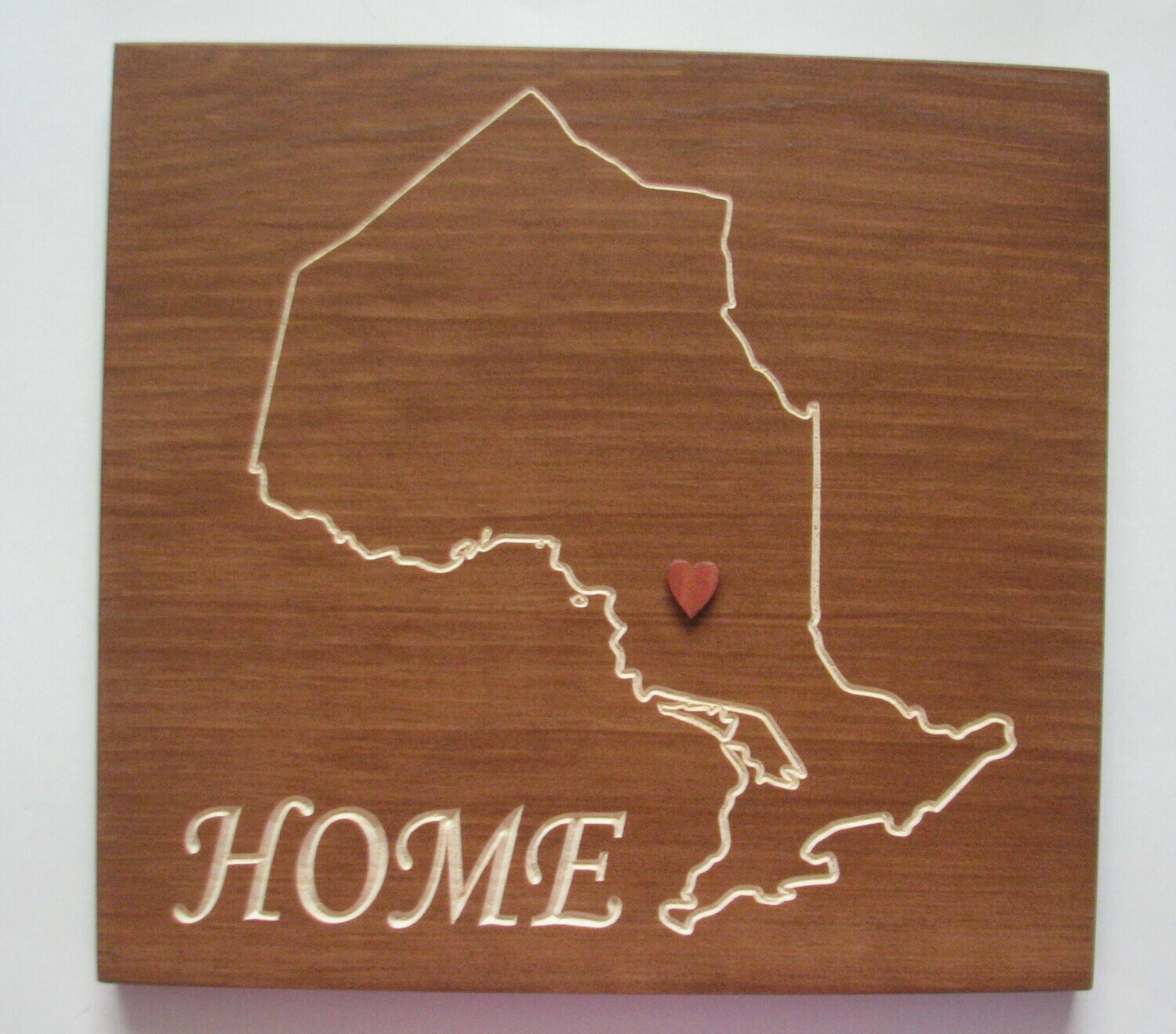 Rustic Ontario Home Sign