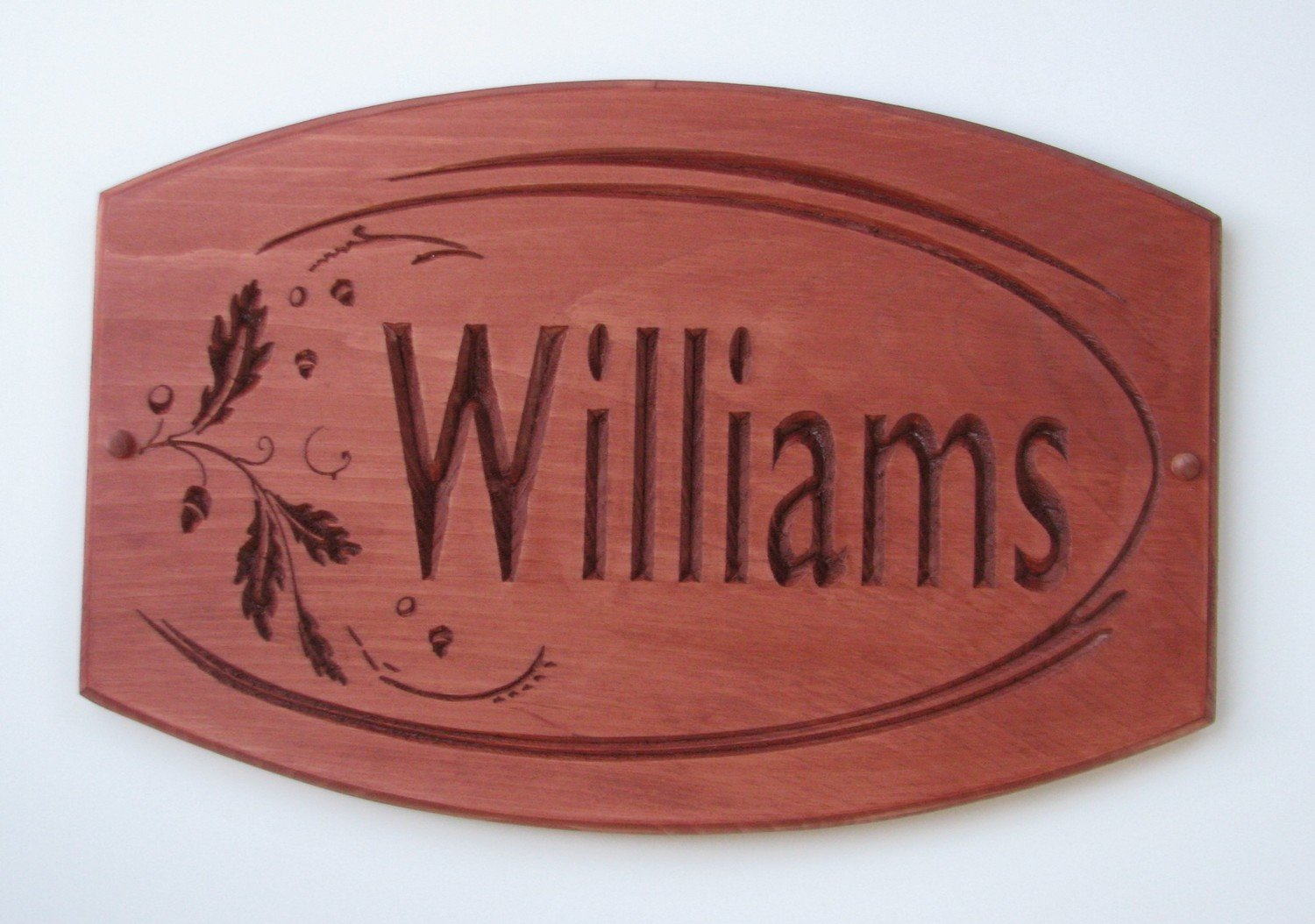 Custom Wood Sign Rustic House Sign Cottage Sign with Oak Leaves and Acorns
