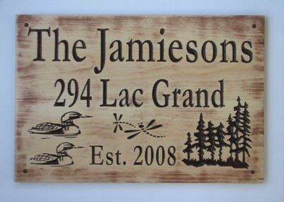 Large Rustic Stained Distressed Look Wood Family Name Sign Camp Sign House Sign