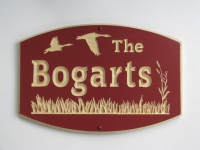 Custom Carved Painted Wood Sign Family Name Sign Cottage Sign House Sign with Geese