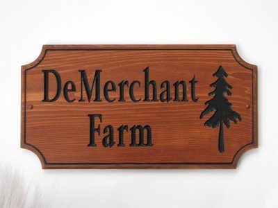 Custom Wood Family Name Sign Stained Wood House Sign