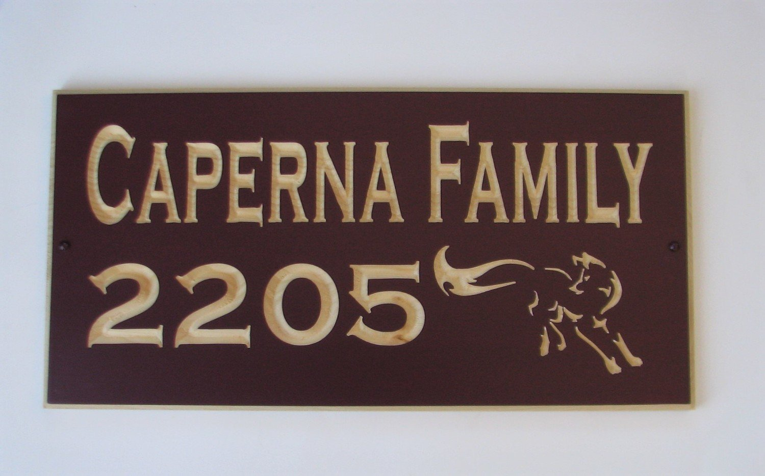 Custom Carved Pine Sign with Carved Fox