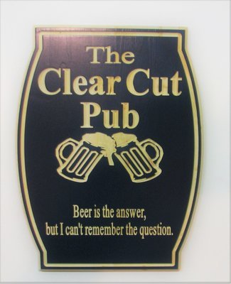 Custom Personalized Bar Sign Pub Sign Man Cave Sign with carved Beer Mugs