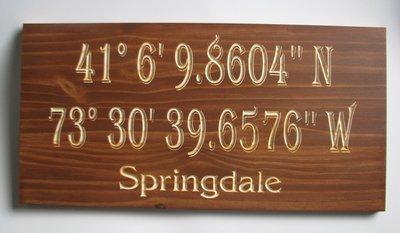 Custom Rustic Longitude Latitude Sign GPS Coordinates Sign