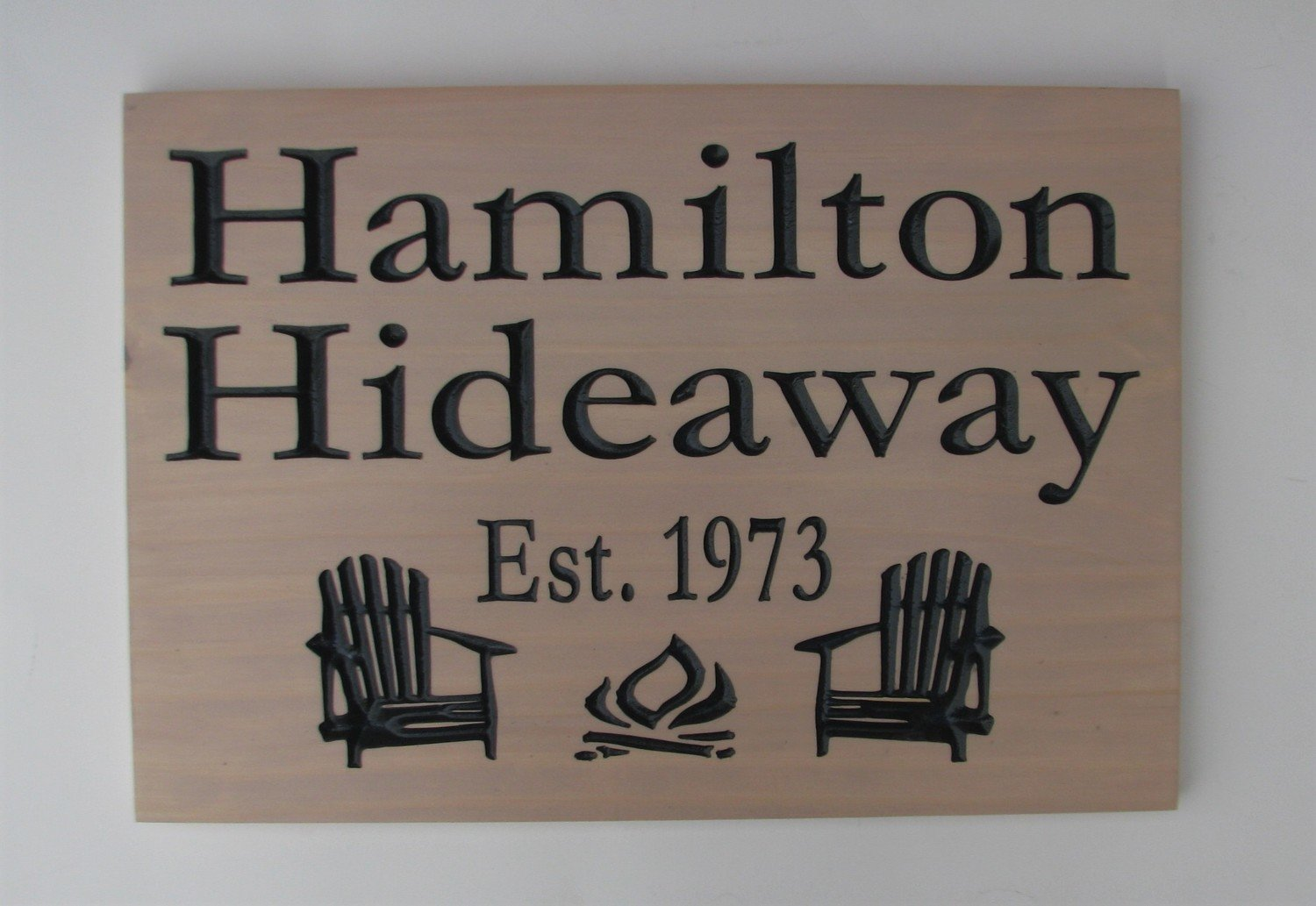Custom Stained Wood Cottage Sign Outdoor Sign