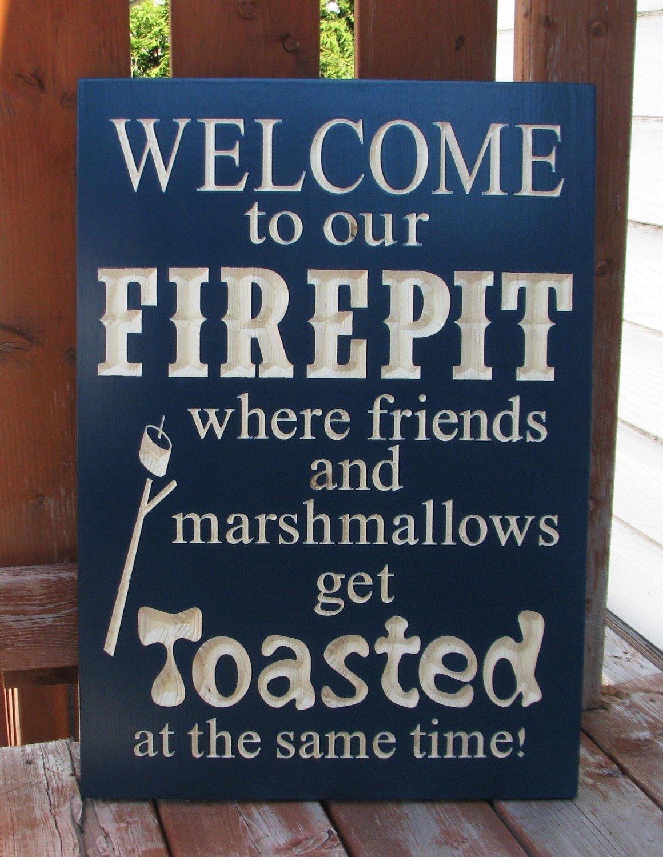 Outdoor Firepit Sign