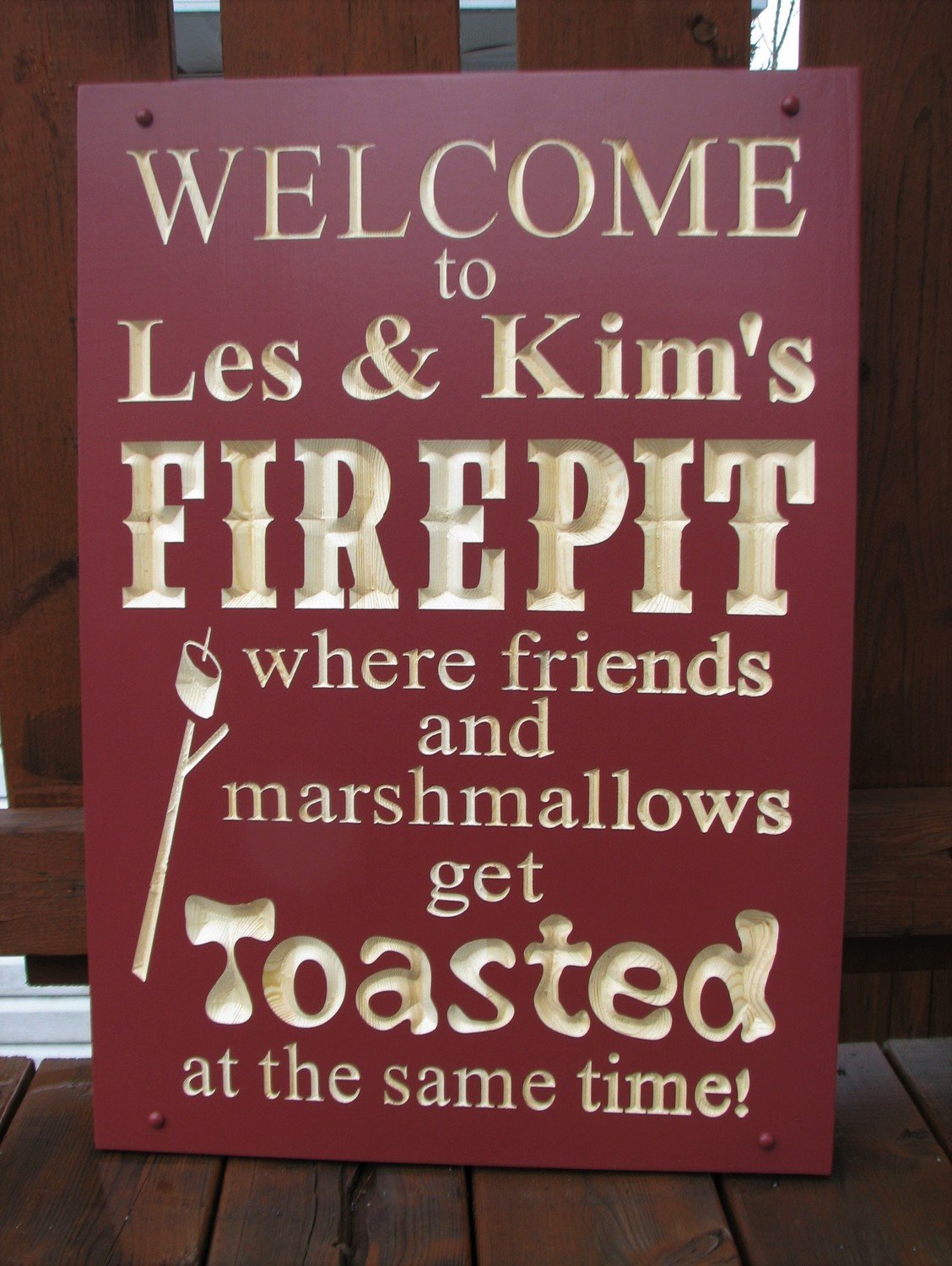 Personalized Outdoor Firepit Sign