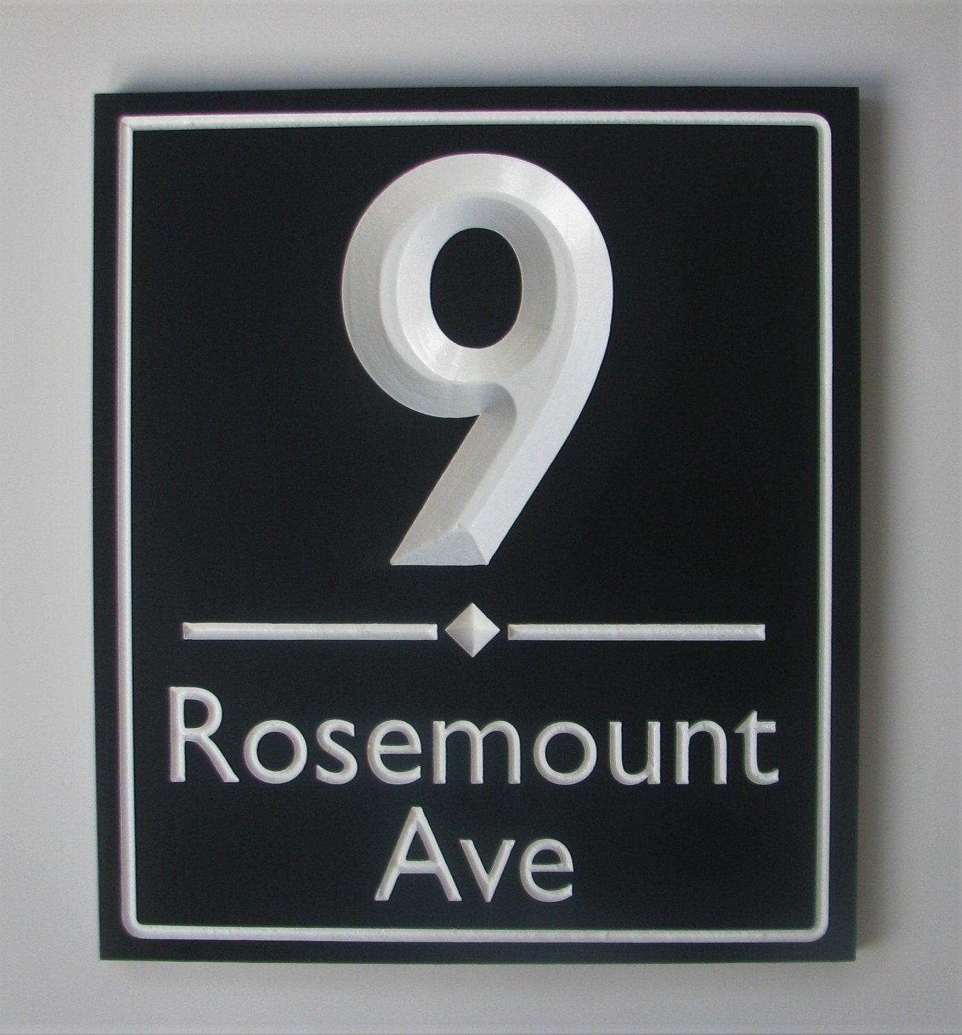 Custom Large Painted Wood Address Sign - House Number Sign - Street Name Sign