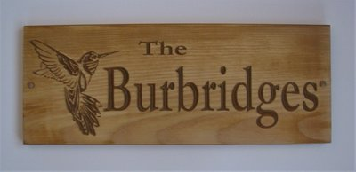 Personalized Rustic Distressed Look Wood Sign Cabin Sign Camp Sign Family Name Sign with Carved Hummingbird