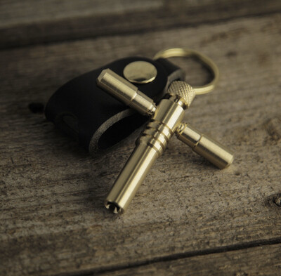 BULLET - Classic Luxury Solid Brass Drum Key