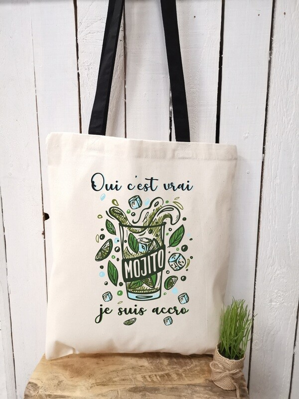 Tote bag/sac shopping/cabas mojito accro