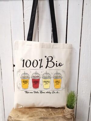 Tote bag/sac shopping/cabas bio mais avec de la vodka