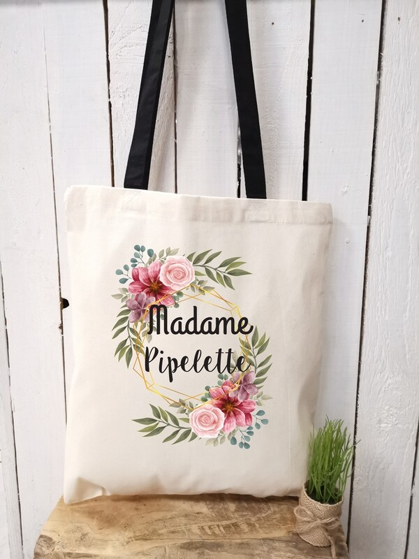 Tote bag/sac shopping/cabas Madame pipelette