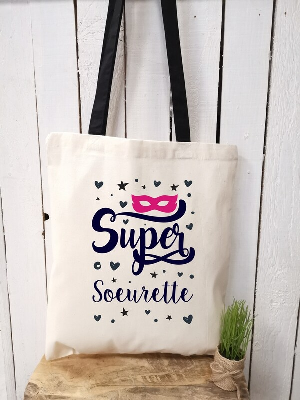 Tote bag/sac shopping/cabas Super sœurette