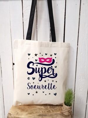 Tote bag/sac shopping/cabas Super sœurette