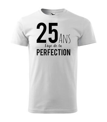 Tee shirt homme l'âge de la perfection age personnalisable