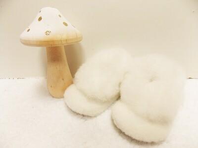 Chaussons bébé 100% alpaga avec fourrure - hypoallergénique couleurs naturelles