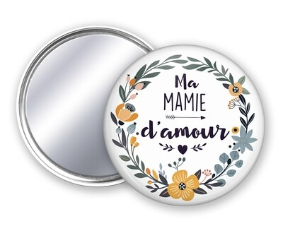 Badge miroir amour pour tata, mamie, maman, marraine, nounou