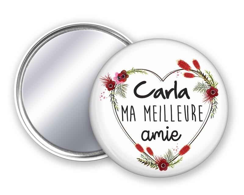Badge miroir meilleure nounou, amie, sœur, cousine, amie