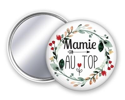 Badge miroir au top tata, mamie, maman, marraine, nounou