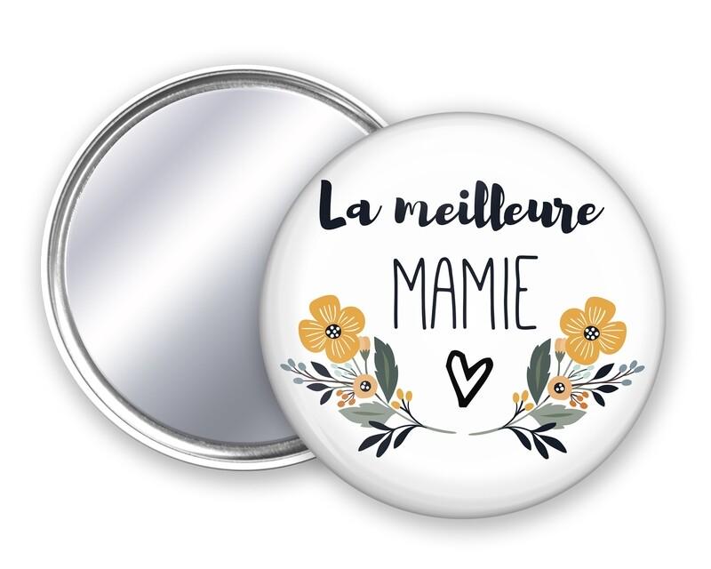 Badge miroir meilleure tata, mamie, maman, marraine, nounou