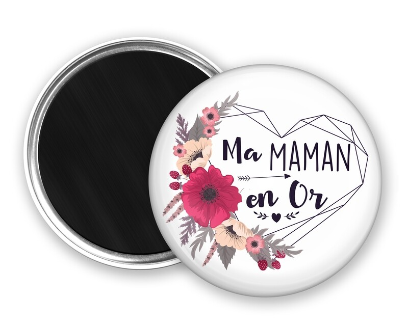 Badge magnet en or tata, marraine, mamie, maman, nounou