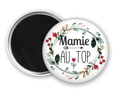 Badge magnet en or tata, marraine, mamie, maman, nounou