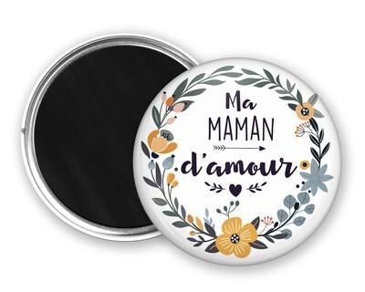 Badge magnet d'amour tata, marraine, mamie, maman, nounou